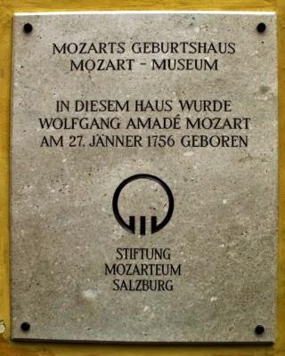 Mozart haus plaque - L